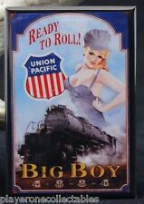 "Union Pacific Railroad Pinup Girl 2"" X 3"" Fridge Magnet. Big Boy 4-8-8-4"