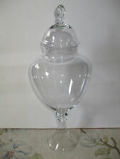 Large Decorative Footed Clear Glass Apothecary Jar Wedding Buffet!