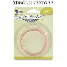 21GA Artistic Wire 3mm Wide Flat Wire Bare Copper Color 3ft