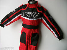 NEW AGE 5-6 RED WULFSPORT KIDS OFF ROAD OUTDOOR PLAY SUIT QUAD OVERALLS CR CHILD
