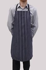 Wholesale Job Lot 10 Brand New Mens Womens Navy Butchers Aprons Work Chef Cook