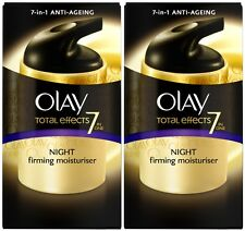 Olay Total Effects 7in1 Night Firming Moisturiser Cream (2 x 50ml)
