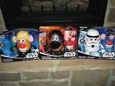 STAR WARS MR POTATO HEAD LOT SPUDTROOPER FRYLO REN LUKE FRYWALKER PAPAWALKER NIB