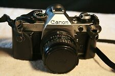 Canon AE-1 Program 35mm SLR Film Camera w/Focal Auto 28mm 1:2.8 Lens - NICE!