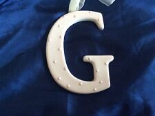 AMSCAN Ceramic Baby Wall Letter G Light Pink Different Designs 449071