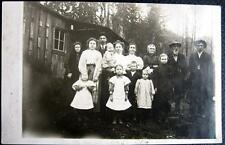 FORTSON WA~1908 FAMILY SKEERS PHOTO IN FRONT OF THEIR HOUSE ~Real photo pc RPPC