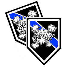 Thin Blue Line Bomb Squad Ka-Pow Decals Pack Of Two
