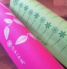 Set Of 2 Gaiam Printed Yoga Mats Pink Floral Green Leaf
