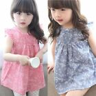 Toddler Kids Baby Girls Summer Beach Floral Dress Princess Party Pageant Dresses