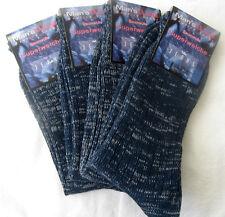4 Paar Jeanssocken 100% Baumwolle Jeans Socken Arbeitssocken blau 43 - 46