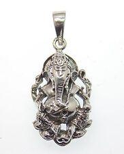 Ganesha, Hindu Gottheit, Symbol für Glück und Erfolg 925 Sterling Silber, 3,2 cm