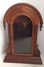 antique WALNUT mantle CLOCK CASE parts repair VICTORIAN 1800's NICE patina