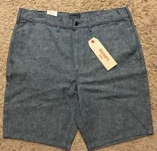 NWT Men Levis Chino Straight Light Blue Shorts Size 33 MSRP $50