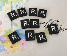 10 (TEN) Letter R, Black  Scrabble Tiles Letters, Individual, A to Z in Stock!