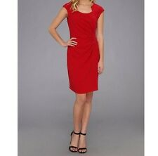 Tahari Sam Structured Career Sheath Dress sz: 12