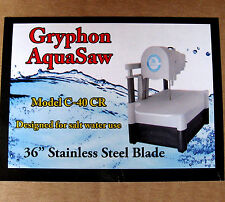 rle GRYPHON C-40CR DIAMOND BAND SAW AQUA SAW FOR FRAGGING CORAL 110V
