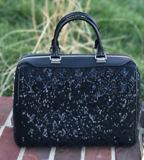 Louis Vuitton Speedy Sunshine Express Black Sequin Wool Satchel black sequin
