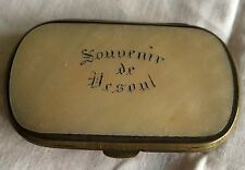 WALLET PURSE OLD SOUVENIR VESOUL PORTE MONNAIE NACRE MOTHER OF PEARL 1900 BOURSE