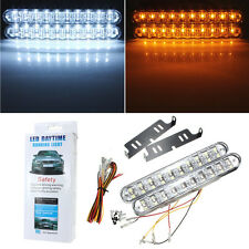 2X 30 LED Car Daytime Running Light DRL Driving Daylight Kit +Turn Signal 12V DC
