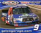 2011 MAX PAPIS signed NASCAR PHOTO POST CARD GEICO TOYOTA hero vanity indy car