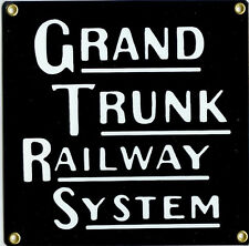 Grand Trunk Railway System Transportation Vintage Train Metal Sign