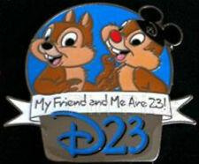 NEW Chip n & Dale Disney My Friend And Me Are D23 Club Refer A Pin Mickey Hat