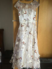Butterfly Lace Overlay Bridesmaids Dress