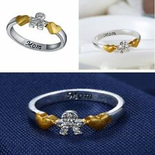 2015 RHINESTONE Mom Round Fashion RING Gift SILVER PLATED FAMILY Boy HOT JEWELRY