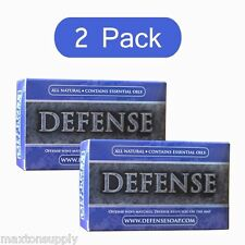 Defense Soap Bar 2 Pack Antibacterial Antifungal Tea Tree Oil 4 Oz