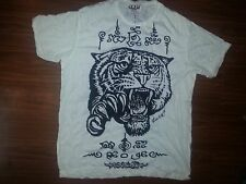 Men t shirt short sleeve Tiger Jungle sure Animal India Thailand vintage retro L