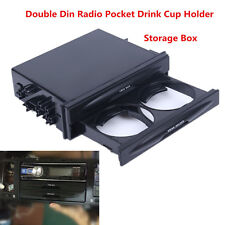 1PC Durable Car truck Double Din Radio Pocket Drink-Cup Holder Storage Box Pop
