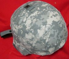 US ARMY MICH ACH ADVANCED COMBAT HELMET ACU & NEW PADS & CHIN STRAP MEDIUM