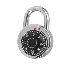 Round Rotary Digit Combination Padlock Round Number Code Lock Safe Security