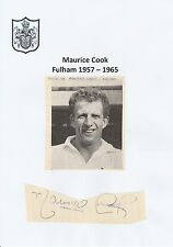 MAURICE COOK FULHAM 1957-1965 RARE ORIGINAL HAND SIGNED CUTTING WITH MAG PICTURE