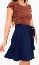 New~American Apparel Demi Wrap Skirt Indigo (Navy Blue) Crepe X-Small / Small