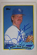 JERRY DON GLEATON Kansas City Royals Autograph 1989 TOPPS #724 Signed Card 16C