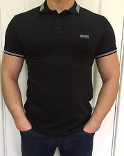 Hugo Boss Mens Polo Top Tshirt Black Size XXL New -Green Label///
