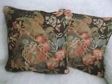 "BANNERMAN FLORAL BY RALPH LAUREN 1 PAIR OF 18"" CUSHION COVERS - DOUBLE SIDED"