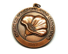 NORTHERN CALIFORNIA GOLF ASSOCIATION 1987 3rd Place Club Champion Copper Medal