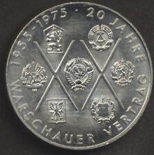 DDR 10 Mark 20 Jahre Warschauer Vertrag  1975