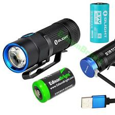 Olight S1R Baton 900 Lumens LED Flashlight, rechargeable battery, Charging cable