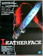 LEATHERFACE Massacre à la Tronçonneuse 3 Affiche Cinéma / Movie Poster Jeff Burr