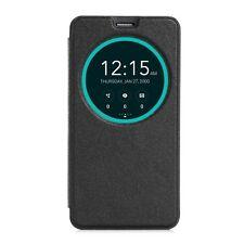 Schutz Tasche Hülle Flip Cover Case Etui f Asus Zenfone 2 View Schwarz 53A2