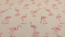 Girones Flamingo Pink Curtain Craft Upholstery Woven Fabric