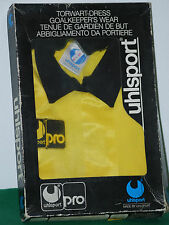 DEADSTOCK UHLSPORT PRO 1 GOALKEEPER FOOTBALL SHIRT ORIGINAL 80 90 VTG ZENGA tg S