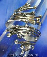 VINTAGE BEAU WATER FALL TEARDROP BY PASS STERLING SILVER 925 SPOON RING 8 to 10