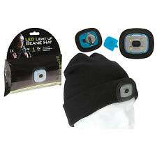Summit LED Light Up Sport Camping Travel Black Beanie Hat Head Lamp Light Torch