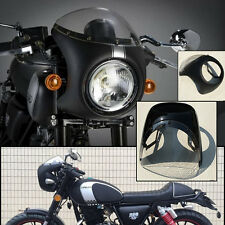 "Universal 7"" Headlight Handlebar Fairing&Screen for Motorcycle Retro Cafe Racer"