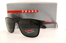 Brand New Prada Sport Sunglasses PS 56QS DG0/1A1 BLACK RUBBER/SOLID GREY MEN