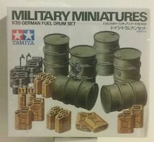Tamiya 1/35 scale kit, German Fuel drum set.